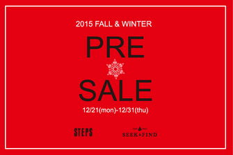 2015 FALL&WINTER PRE SALE START!!