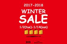 2017-2018 WINTER SALE 1/2(TUE)スタート!!