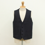 FRANK LEDER /  BLUE/BLACK COTTON VEST