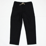 FRANK LEDER / BLACK BLUE WOOL EASY PANTS
