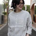 DMG/ ディーエムジー 別注 リネンスタンドシャツ 16-418