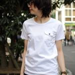 EEL/イール 別注 陶器ボタンのポケットTシャツ