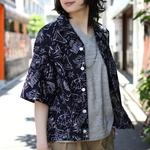 HAVERSACK/ハバーサック 別注 プリント 開襟シャツ