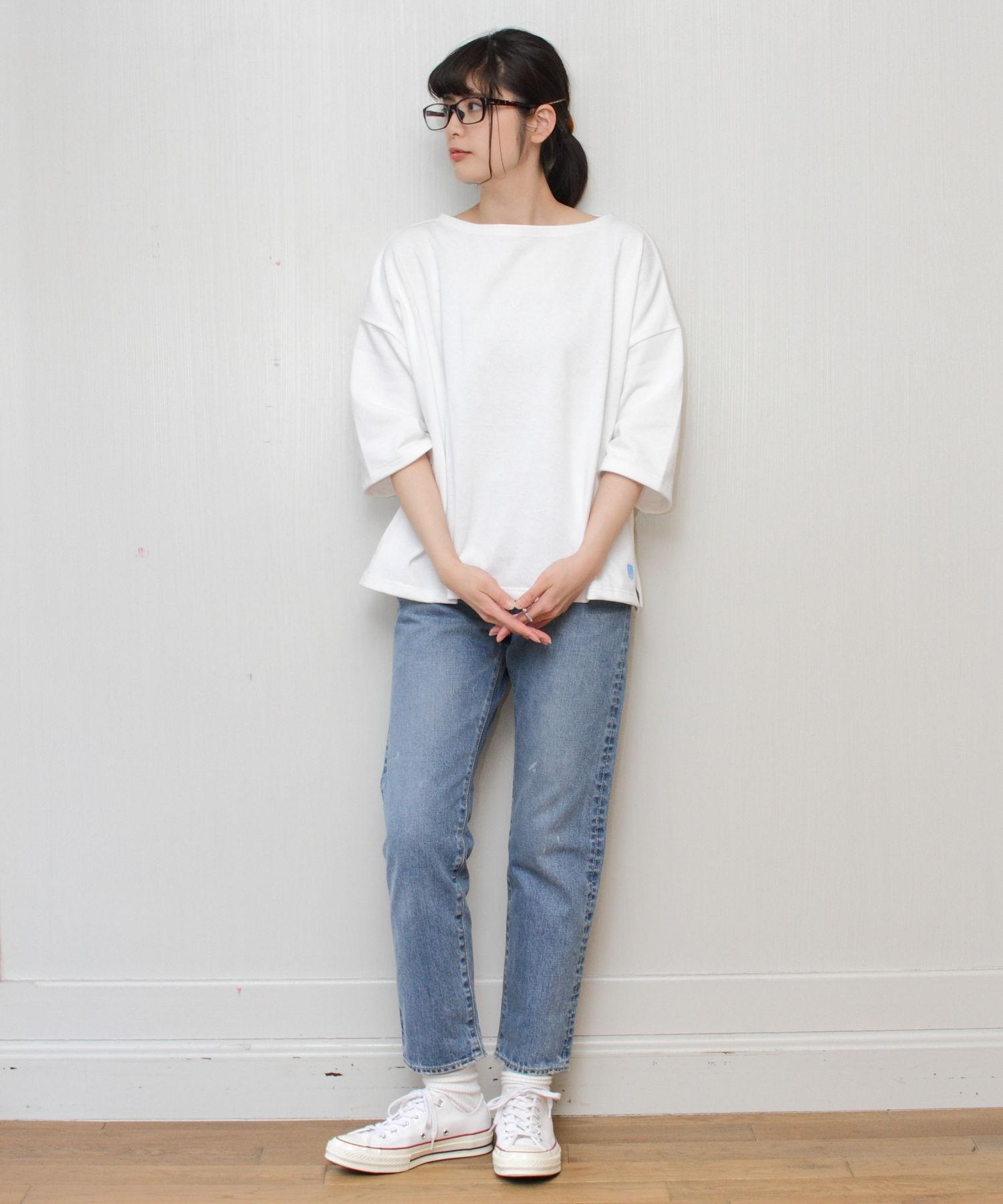 ORCIVAL / オーシバル ドロップショルダー バスクシャツ