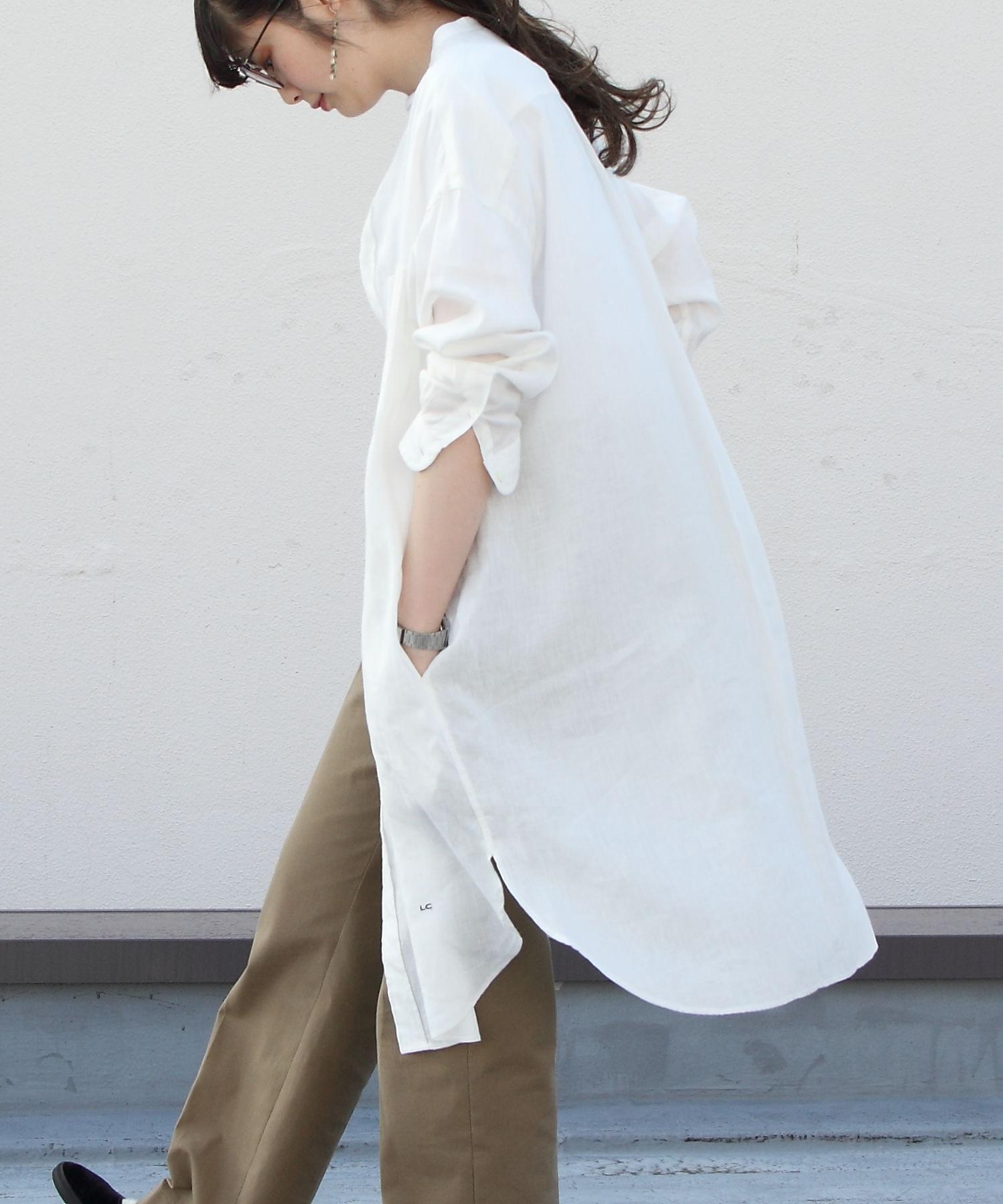 GYMPHLEX/ジムフレックス リネンクロスシャツワンピース LINEN CLOTH ONE PIECE J-1363KLS