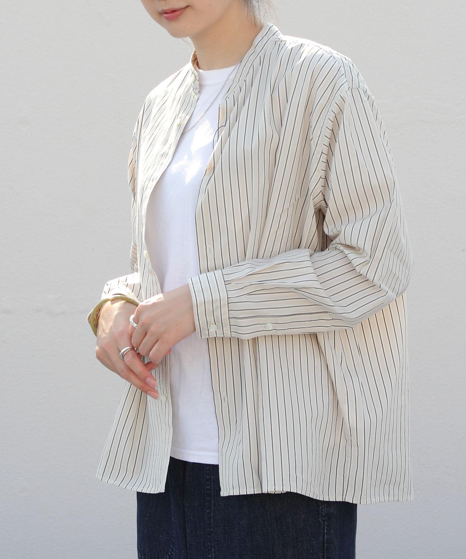 GYMPHLEX/ジムフレックス バンドカラーシャツ BAND COLLAR SHIRT(ウィメンズ) #GY-B0005MUL